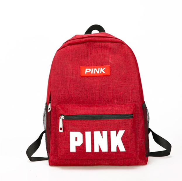 Рюкзак женский городской Pink красный