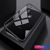 Магнитный чехол Magnetic case на Iphone X/XS в комплекте со стеклом