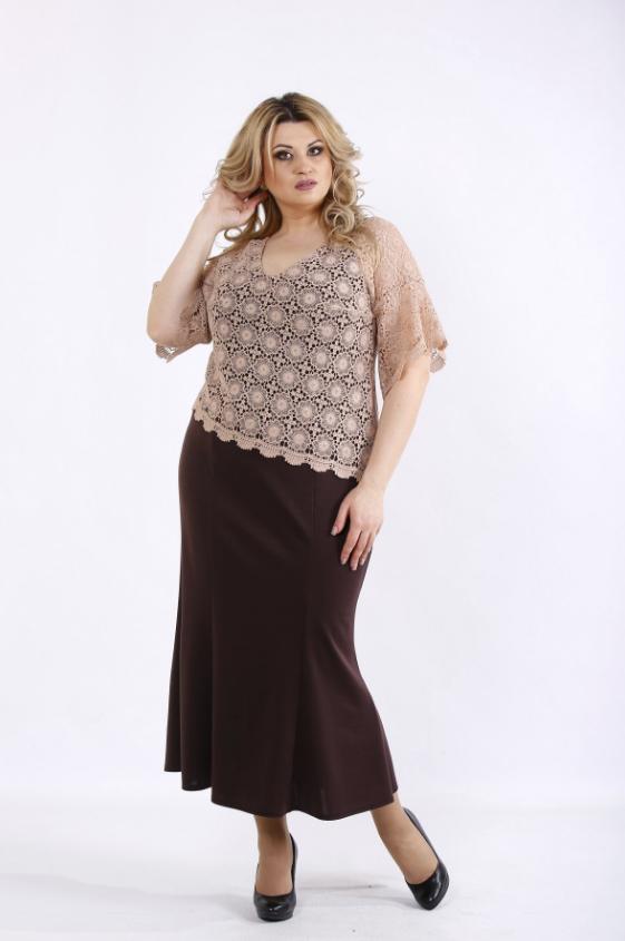 739573cc3ce Шоколадное платье в пол (р. 42-74 ) под заказ купить в Украине по ...