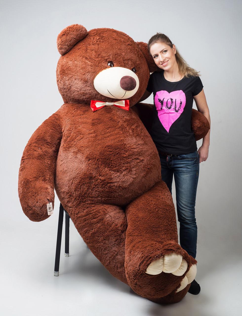 Огромный плюшевый мишка 250 см коричневый