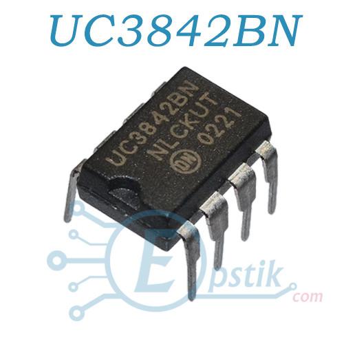 UC3842BN, ШИМ контроллер, DIP8