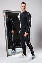 Мужской спортивный костюм Fila (gray), спортивный костюм Fila с лампасами, спортивный костюм Фила