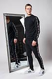 Мужской спортивный костюм Fila (gray), спортивный костюм Fila с лампасами, спортивный костюм Фила, фото 3
