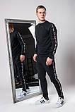 Мужской спортивный костюм Fila (gray), спортивный костюм Fila с лампасами, спортивный костюм Фила, фото 4