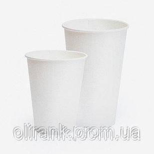 Стаканы бумажные 340 мл 50шт/уп Белый (35уп/ящ) (кр-79)