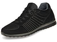 Кросівки чоловічі шкіряні демісезонні чорні 45 розмір Mida 111034 (9)