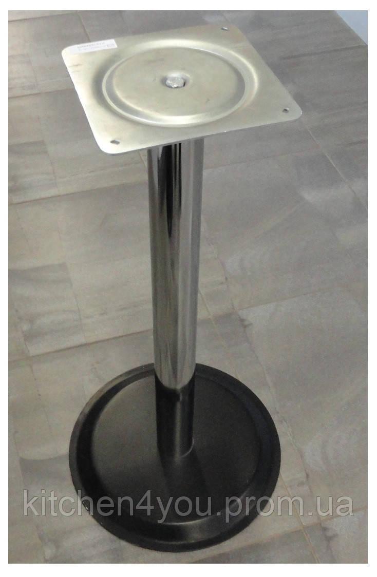 Опора для столу з круглим підставою Tempo 11.183.18.02 чорне підстава, хромована опора