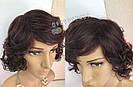 Парик женский натуральный, короткий кудрявый, фото 8