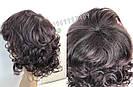 Натуральный жеснский парик, кудрявый коричневого оттенка, фото 6