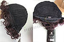 Натуральный жеснский парик, кудрявый коричневого оттенка, фото 7