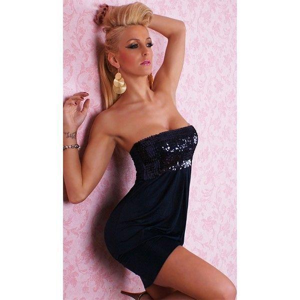 Сексуальное черное мини-платье без бретелей