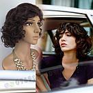 Простой натуральный женский парик, кудрявый короткий, фото 10