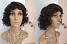 Простой натуральный женский парик, кудрявый короткий, фото 3