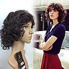 Простой натуральный женский парик, кудрявый короткий, фото 9