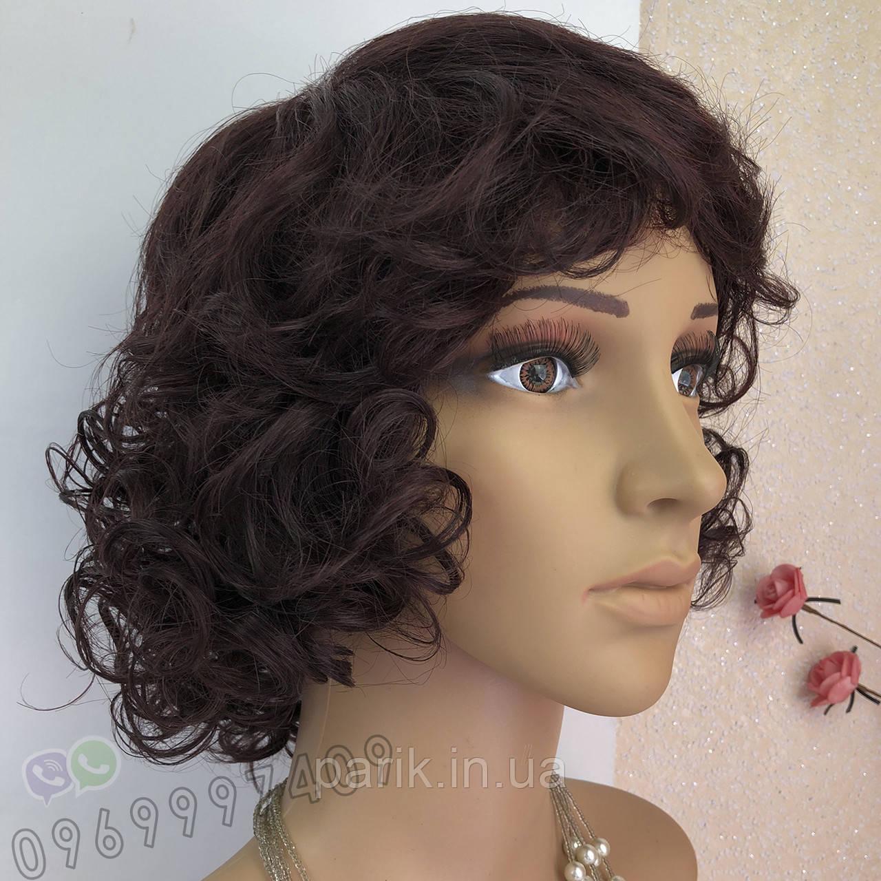 Простой натуральный женский парик, кудрявый короткий
