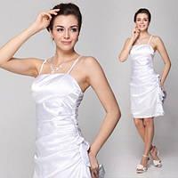 РОЗПРОДАЖ! Елегантне плаття з бантиком біле