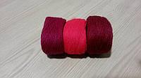 Малиновые оттенки вышивальных ниток