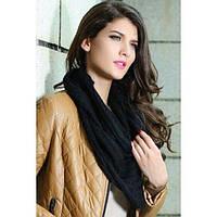 Черный вязаный шарф, фото 1