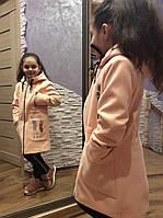 """Детское кашемировое пальто """"Подружка"""" для девочек"""