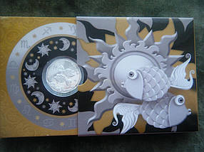 Рибки Срібна монета 2 гривні , фото 2