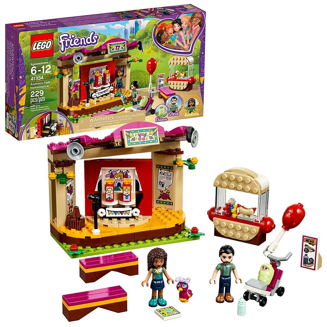 Lego Friends 41334 Виступ в парку Андреа (Конструктор Лего Френдс Выступление в парке Андреа)