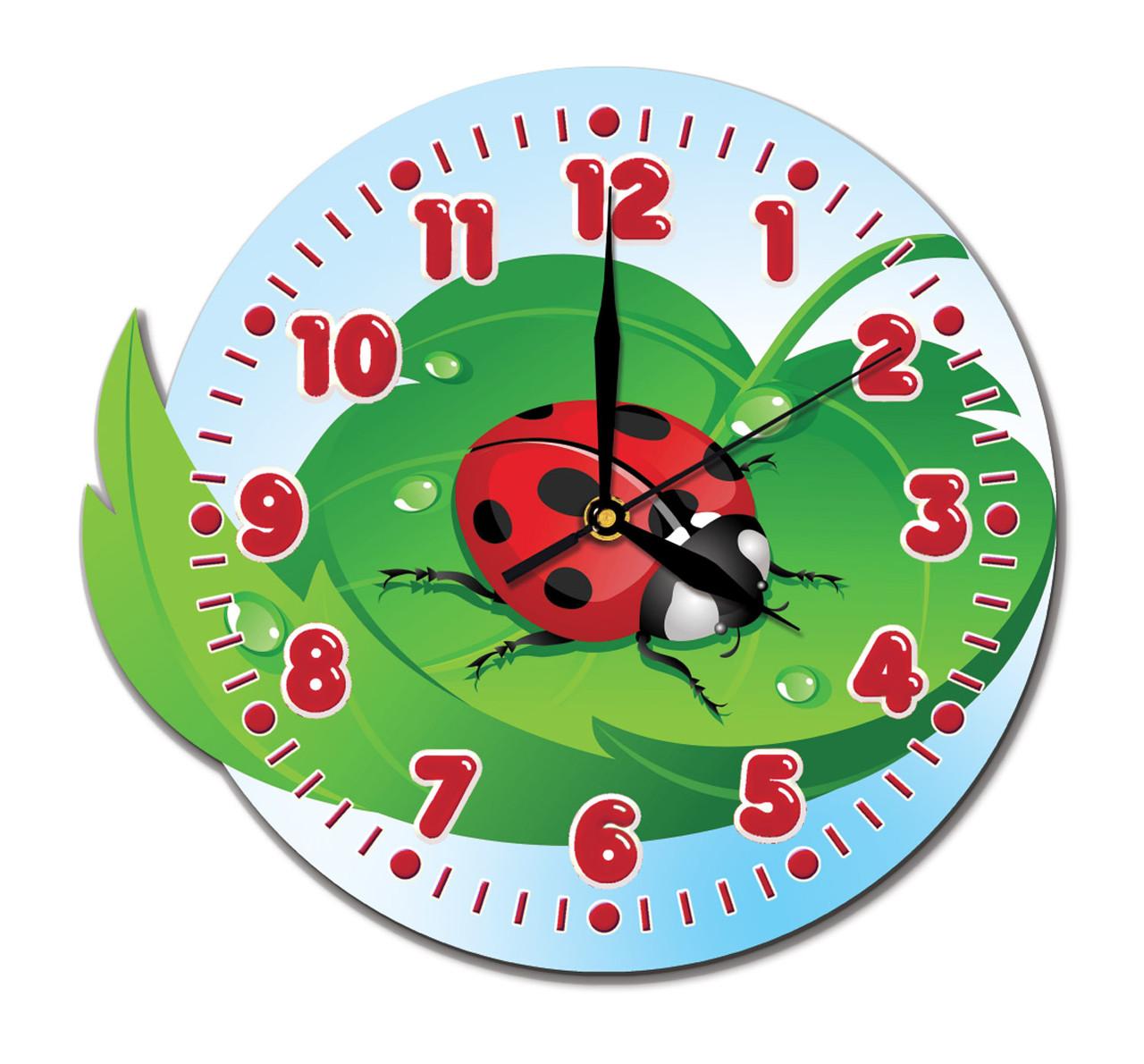Часы фигурные Божья коровка 32*29 см