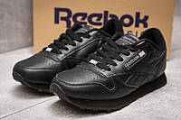 Кроссовки мужские Reebok Classic Leather, черные (13882),  [  42 (последняя пара)  ], фото 1