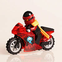 """Нинздя огня Кай на красном мотоцикле (Ниндзяго)"" фигурка совместимая с Лего"