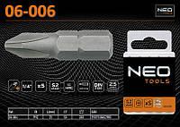 Бита-насадка PH2x25мм, 5 шт.,  NEO 06-006