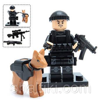 """""""Спецназ с собакой"""" фигурка совместимая с Лего"""