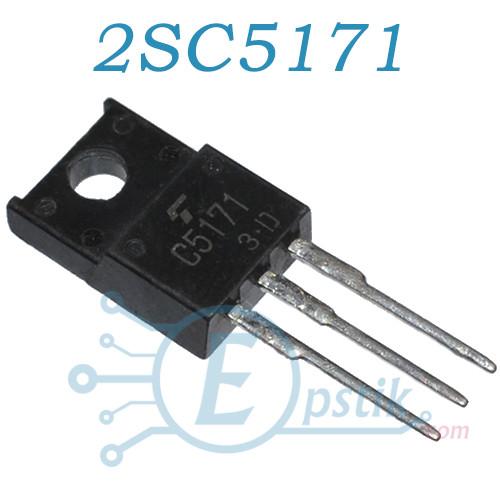 2SC5171, транзистор биполярный NPN, 2А, 180В, TO220F