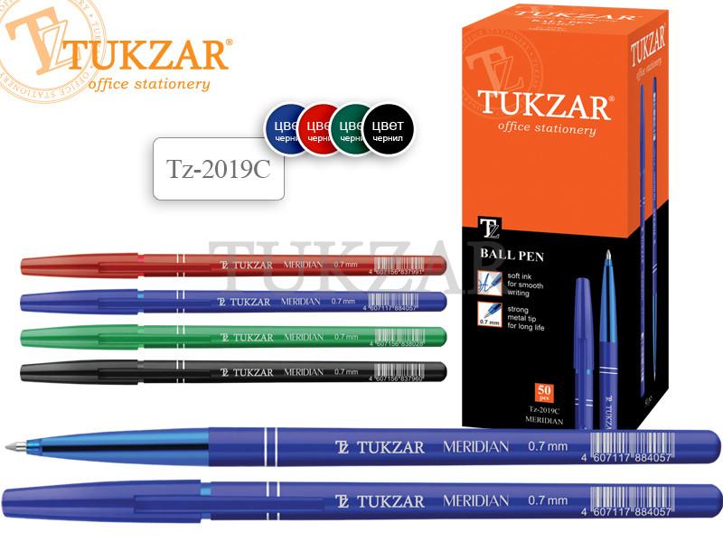 Шариковая ручка: цветной пластиковый корпус; пластиковый колпачок с клипом (цвет соответствуют цвету чернил);