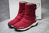 Зимние ботинки в стиле Columbia Keep warm, бордовые (30283),  [  41 (последняя пара)  ], фото 1