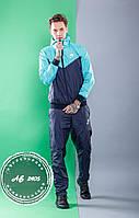 Мужской спортивный костюм Nike весна-осень прогулочный плащевка, ментол