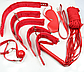 Набор садо-мазо,фетиш,BDSM.БДСМ. 7 аксессуаров, фото 2