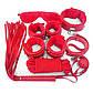 Красный BDSM набор для ролевых садо-мазо игр 7 предметов, фото 3