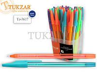 Ручка шариковая VIVID: пластиковый цветной корпус, цвет чернил СИНИЙ, пишущий узел 0.7 мм,