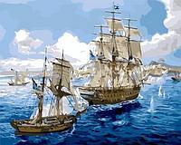 Картина по номерам Морское сражение Производитель: DIY Babylon арт. VP259 Размер: 40 х 50 см