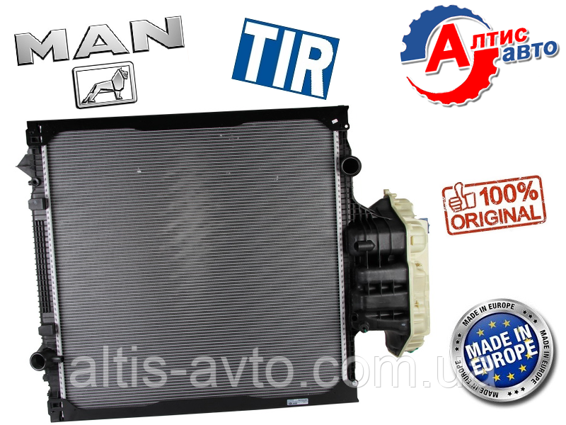 Радиатор MAN TGA, Tgs, Tgx (920X938X42 алюминий) для грузовиков Ман 81061016512 кондиционера печки