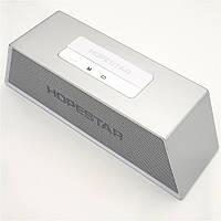 Беспроводная аккумуляторная колонка Bluetooth акустика FM MP3 AUX USB Hopestar H28 серая