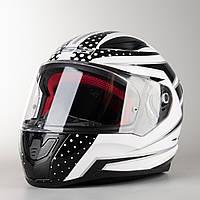 Мото Шлем Интеграл LS2 FF353 RAPID CARBORACE WHITE BLACK