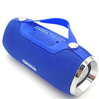Беспроводная аккумуляторная колонка Bluetooth акустика FM MP3 AUX USB Hopestar H40 синяя