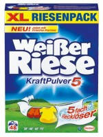 Стиральный порошок универсальный Weisser Riese 65+5 стирок 3,85 кг Kraft Pulver 5