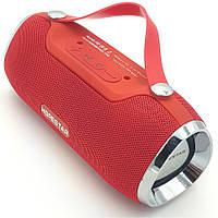 Беспроводная аккумуляторная колонка Bluetooth акустика FM MP3 AUX USB Hopestar H40 красная