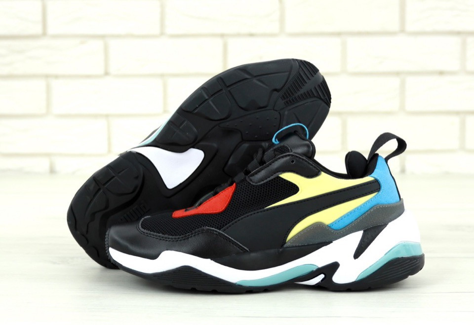 Мужские кроссовки Puma Thunder Spectra Black . ТОП Реплика ААА класса.