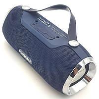 Беспроводная аккумуляторная колонка Bluetooth акустика FM MP3 AUX USB Hopestar H40 темно синяя