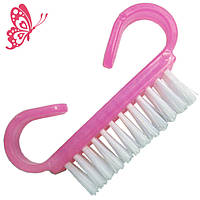 Новое Поступление: Щетка для Ногтей Малая из Искусственного Ворса Розового Плотного Пластика
