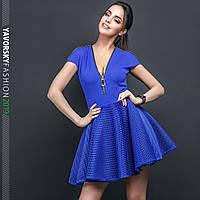 Платье Yavorsky Лаура стильное на молнии с пышной юбкой из сетки Smy3023