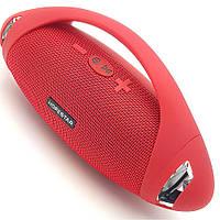 Беспроводная аккумуляторная колонка Bluetooth акустика FM MP3 AUX USB Hopestar H37 красная