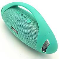 Беспроводная аккумуляторная колонка Bluetooth акустика FM MP3 AUX USB Hopestar H37 зеленая